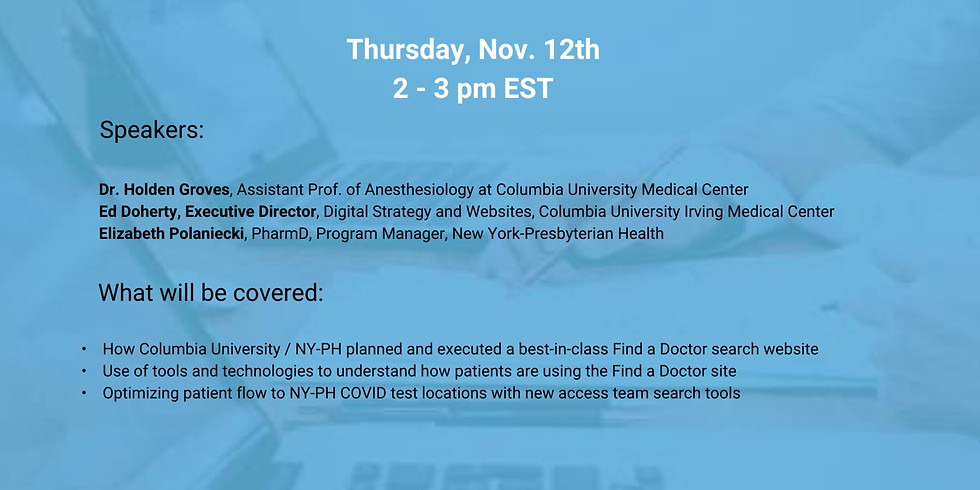 A Better Digital Experience with Phynd Provider Data Management Platform: NewYork-Presbyterian and Columbia University
