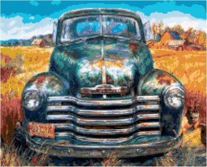Old Chevy Cross Stitch Pattern