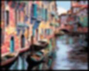 venice canal cross stitch pattern, crosstitch, counted cross stitch, charts, patterns, PDF download,, custom charts, needlepoint