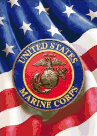 Marines Logo Cross Stitch Pattern