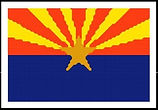Arizona State Flag Cross Stitch Pattern