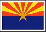 Arizona State Flag Cross Stitch Pattern