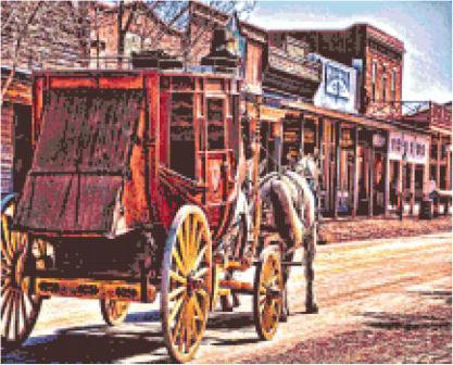 Stagecoach Cross Stitch Pattern