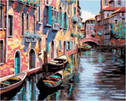 Venice Canal Cross Stitch Pattern