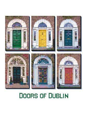 Doors of Dublin Cross Stitch Pattern