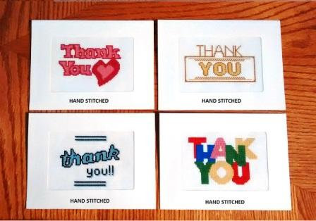 Thank You - Stitched Card