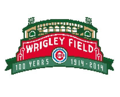 Wrigley Field Sign Cross Stitch Pattern