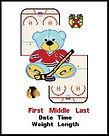 Blackhawks Baby Cross Stitch Pattern