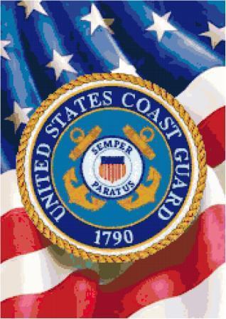 Coast Guard Logo Cross Stitch Pattern
