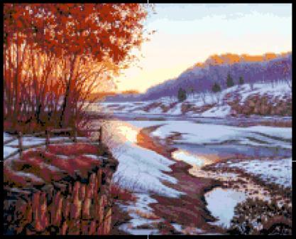 Snowmelt at Sunrise