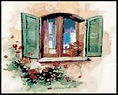 Tuscan Window Cross Stitch Pattern