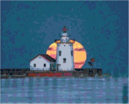 Moonlit Lighthouse