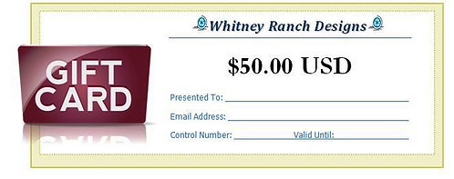 $50.00 (USD) Gift Card