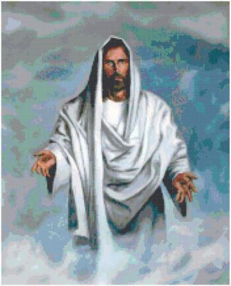 Jesus Christ Cross Stitch Pattern