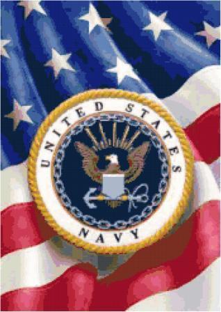 Navy Logo Cross Stitch Chart