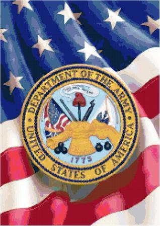 Army Logo Cross Stitch Pattern
