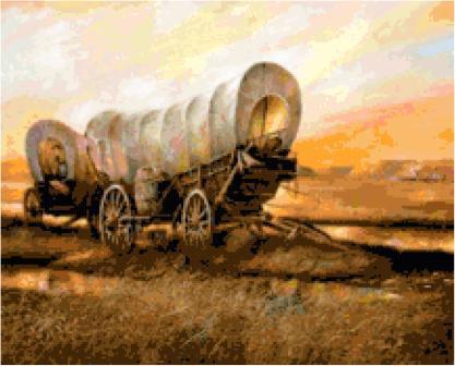 Covered Wagons Cross Stitch Pattern