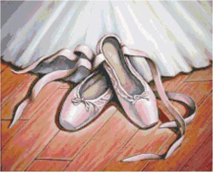 Ballet Shoes Cross Stitch Pattern