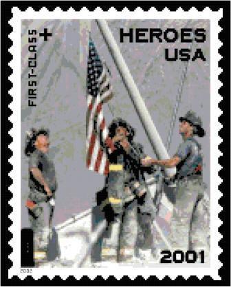 9-11 Postage Stamp Cross Stitch Pattern