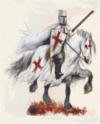 Knight Templar Cross Stitch Pattern
