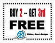 Buy 2 - Get 3rd Cross Stitch Chart FREE