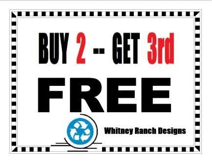 Buy 2 - Get 3rd FREE