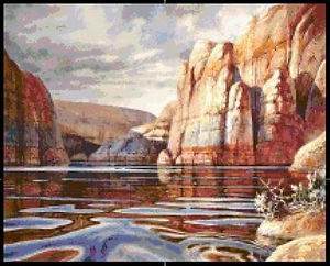 glass canyon cross stitch pattern, crosstitch, counted cross stitch, charts, patterns, PDF download, custom charts, needlepoint