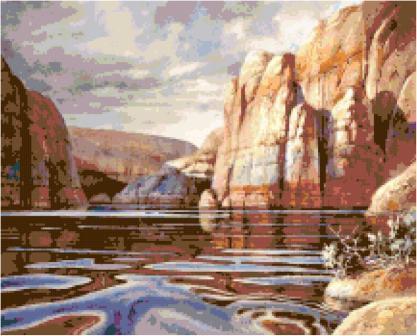 Glass Canyon Cross Stitch Pattern