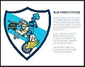 Blue Knights Pledge Cross Stitch Pattern