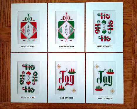 Christmas - Stitched Cards