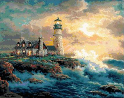Lighthouse cross Stitch Pattern
