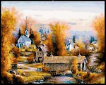 Autumn Brifge Cross Stitch