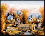 Autumn Brifge Cross Stitch