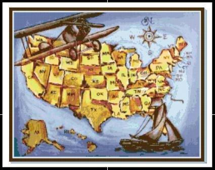 Americana Map