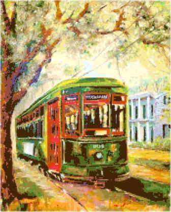 New Orleans Streetcar Cross Stitch Chart