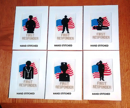 First Responder - Stitched Card