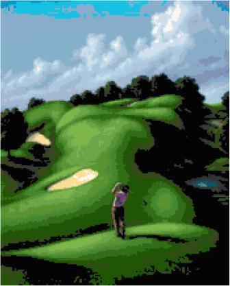 Fantasy Golf Cross Stitch Pattern