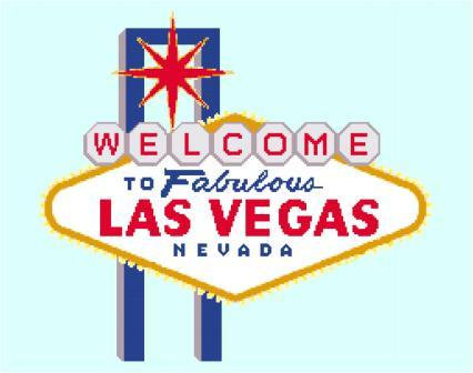 Las Vegas Icon Cross Stitch Pattern