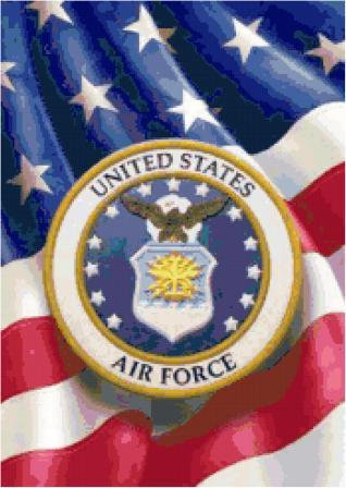 Air Force Logo Cross Stitch Pattern