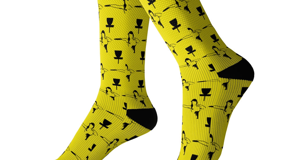 Yellow MPWRD - Sublimation Socks