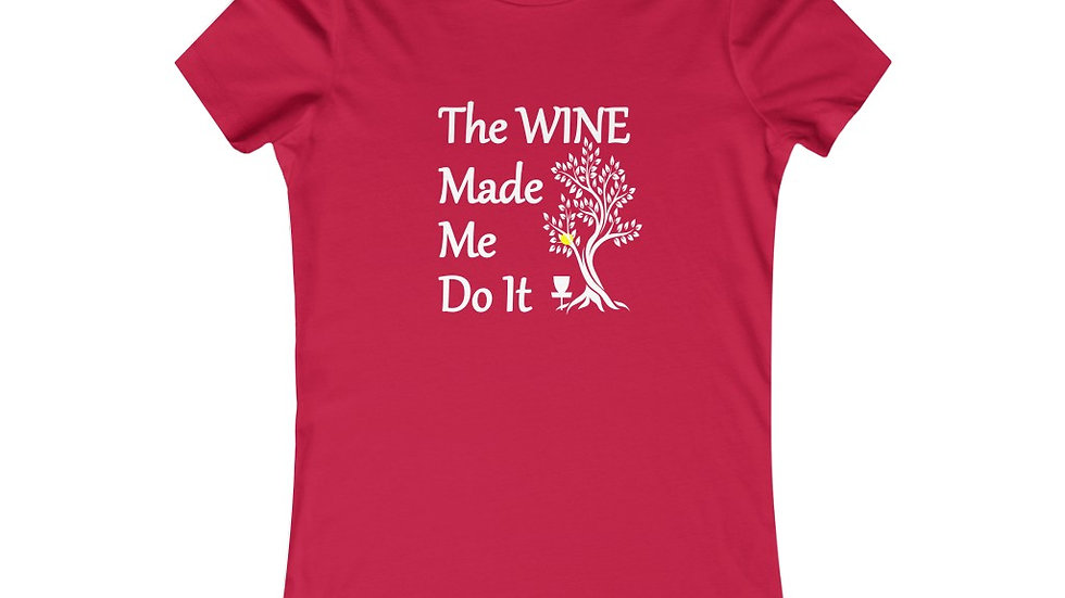 Women's Disc Golf & Wine - Favorite Tee