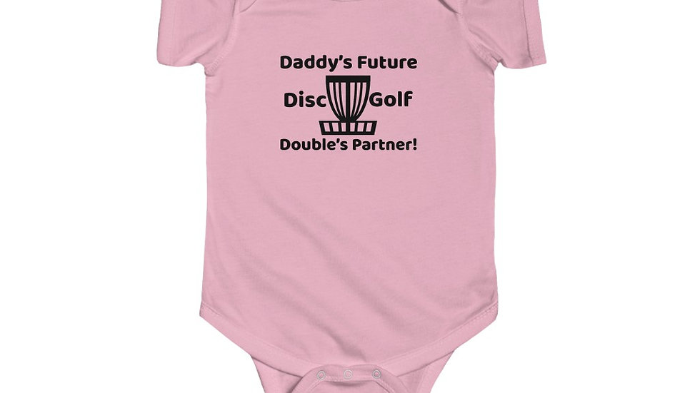 Daddy's Future Disc Golf Doubles Partner - Infant Bodysuit