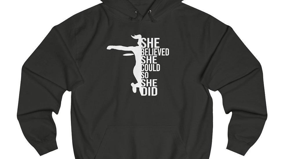 She Believed - Unisex College Hoodie