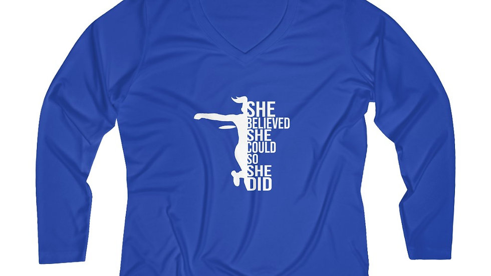 She Believed - Performance V-neck Tee