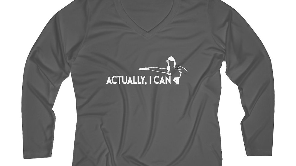 Actually I Can - Performance V-neck Tee