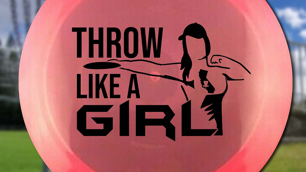Throw Like A Girl w/ State (x2) - Stencil