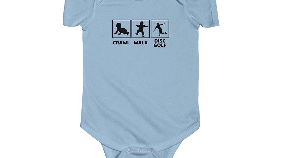 Male - Crawl - Walk.- Disc Golf - Infant Bodysuit