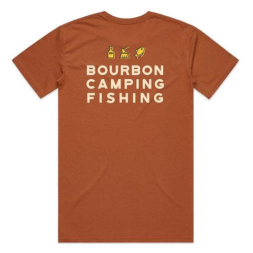 Jaspers Bourbon Camping Fishing tee
