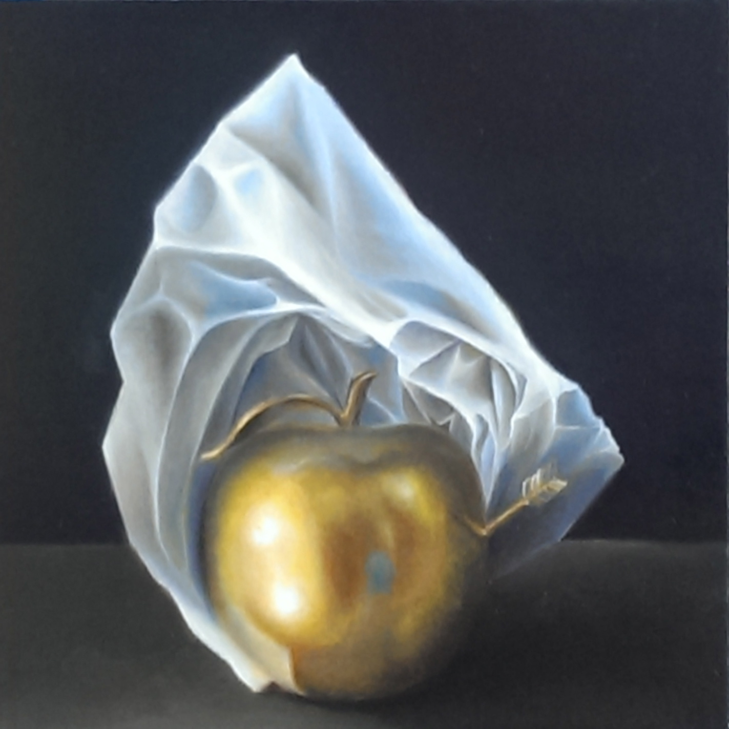 Golden Apple with Paper