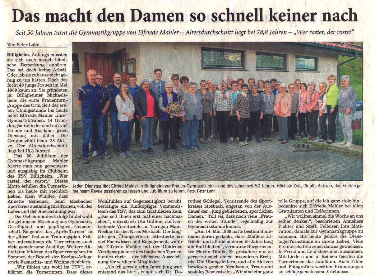 2019_Zeitungsartikel_50_Jahre_Turnerfrau